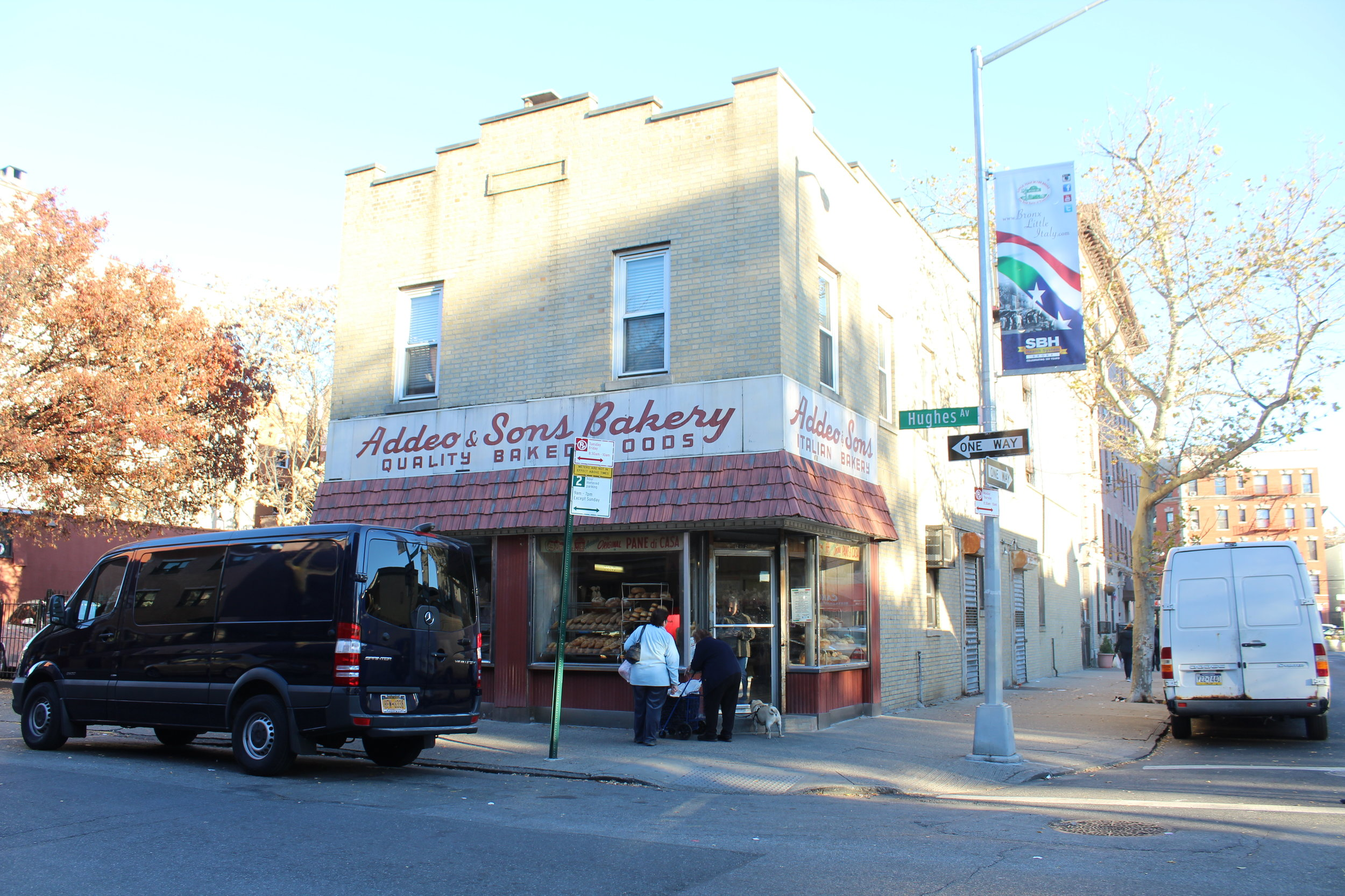 The Addeo bakery on Hughes Avenue is where the bread is baked.