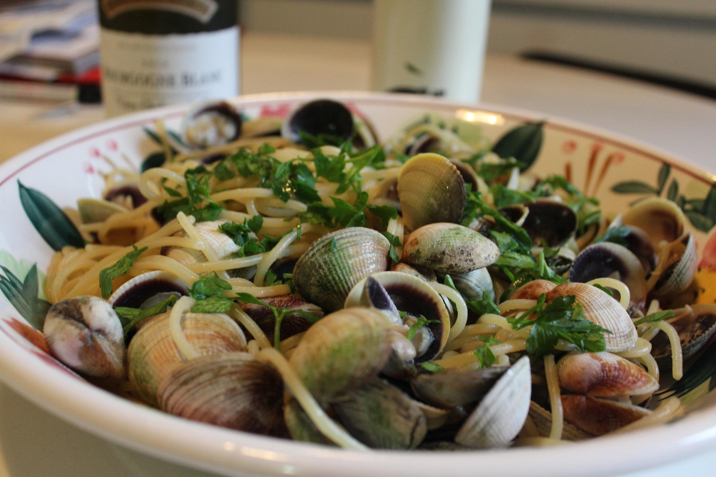 Spaghetti with clams Arthur Avenue Bronx