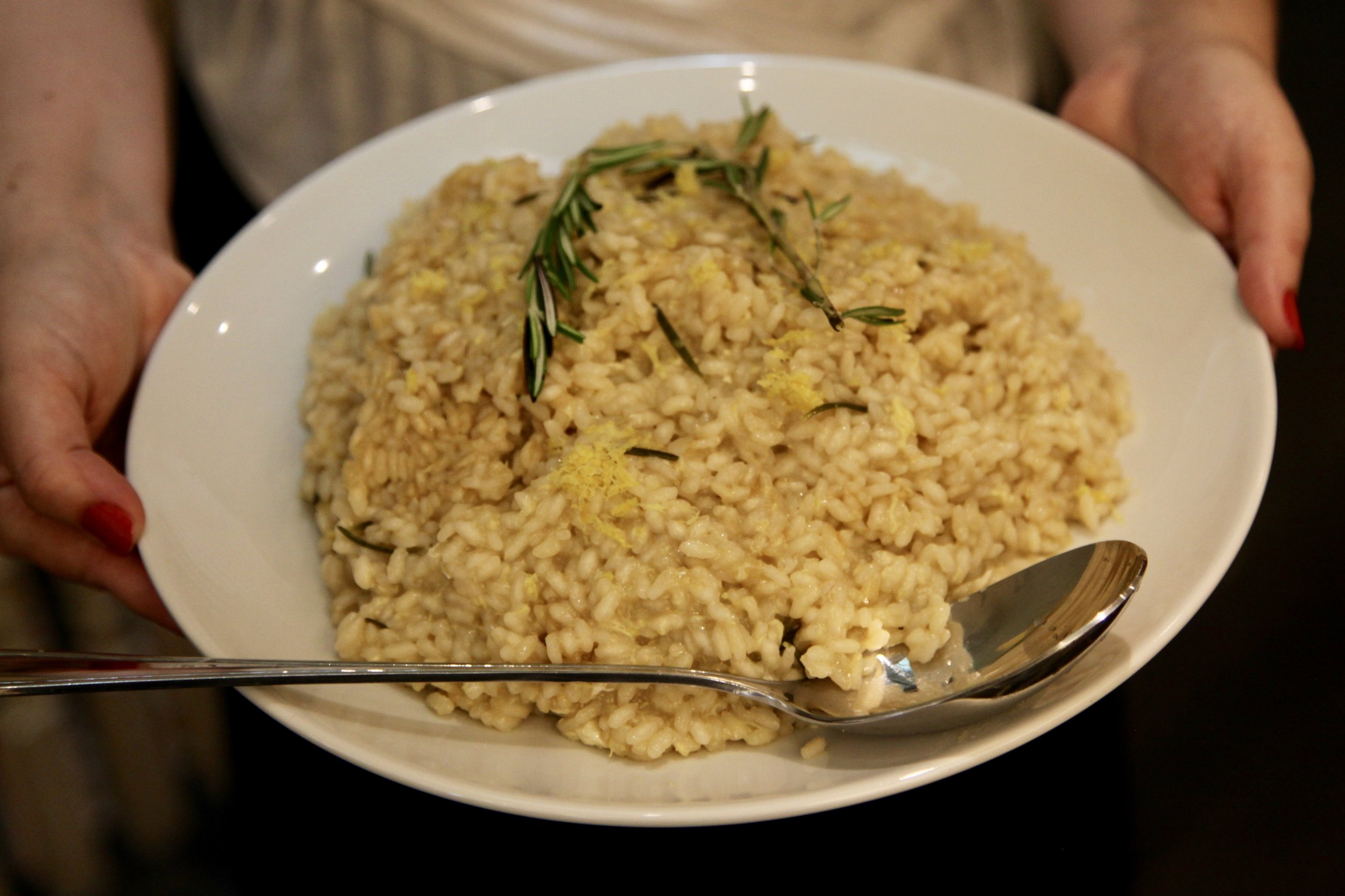 Lemon and rosemary risotto. Photo credit: James Jorasch