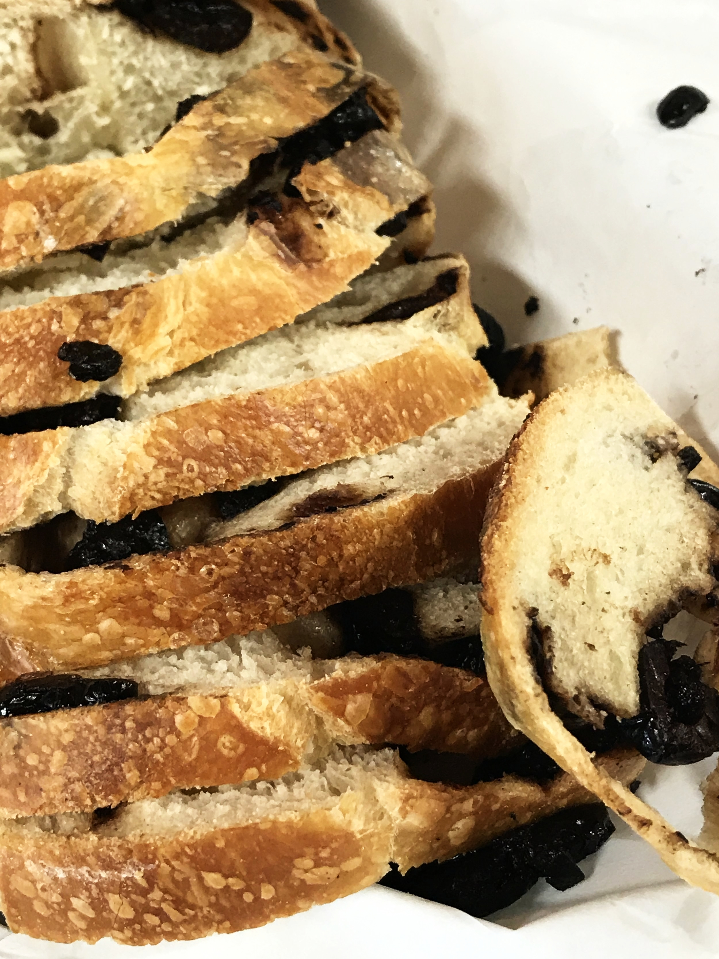 Olive bread, the specialty of Madonia Bakery.