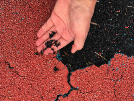 Exposed Poured-In-Place Waste Tire Crumb