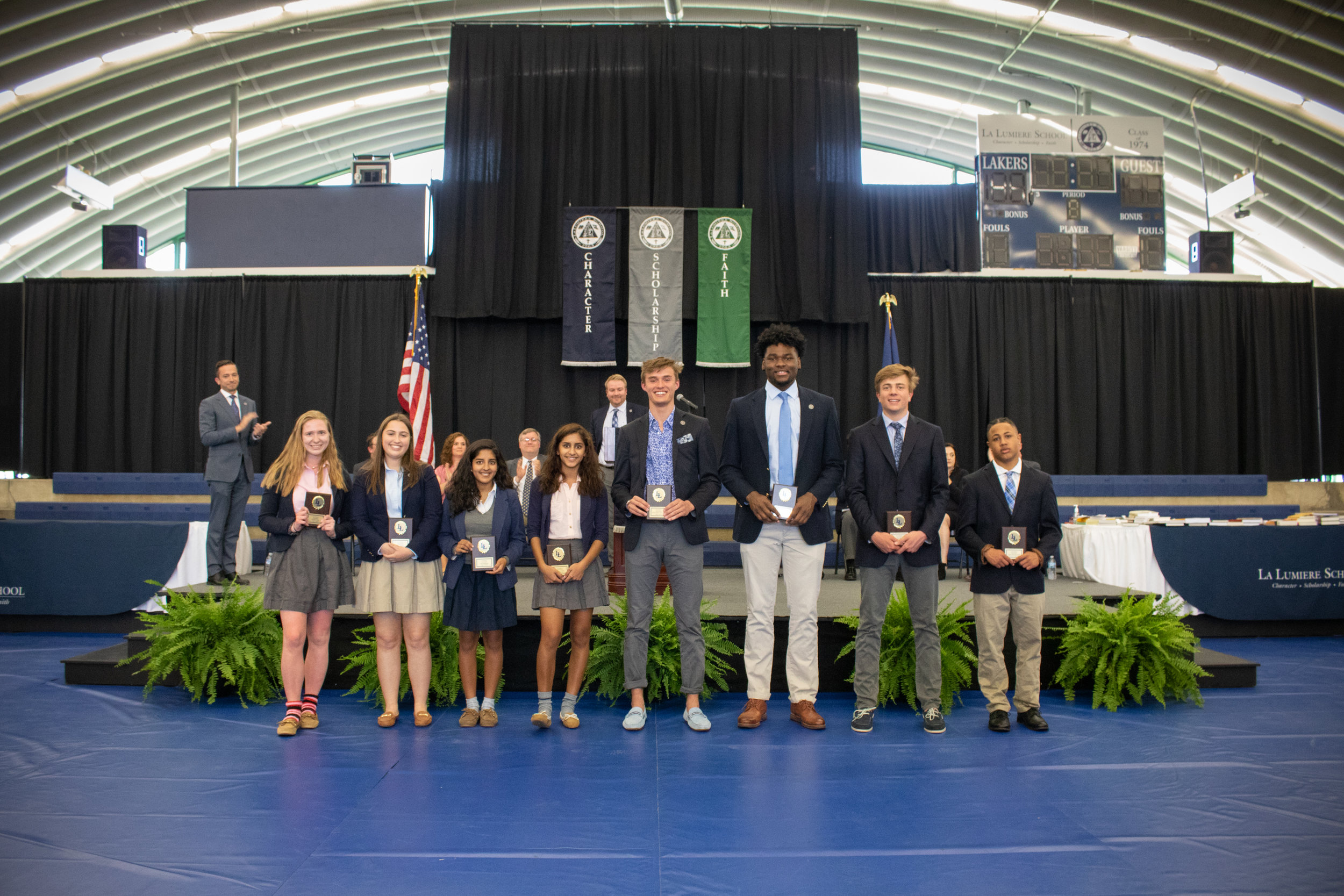 Excellence in Performance and Laker Award winners for the winter season in athletics
