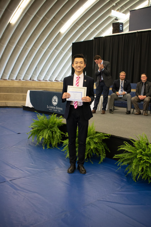 La Lumiere's highest scorer in the Indiana Math League Contest and American Scholastic Mathematics Competition, Zhuohao (Chris) Li