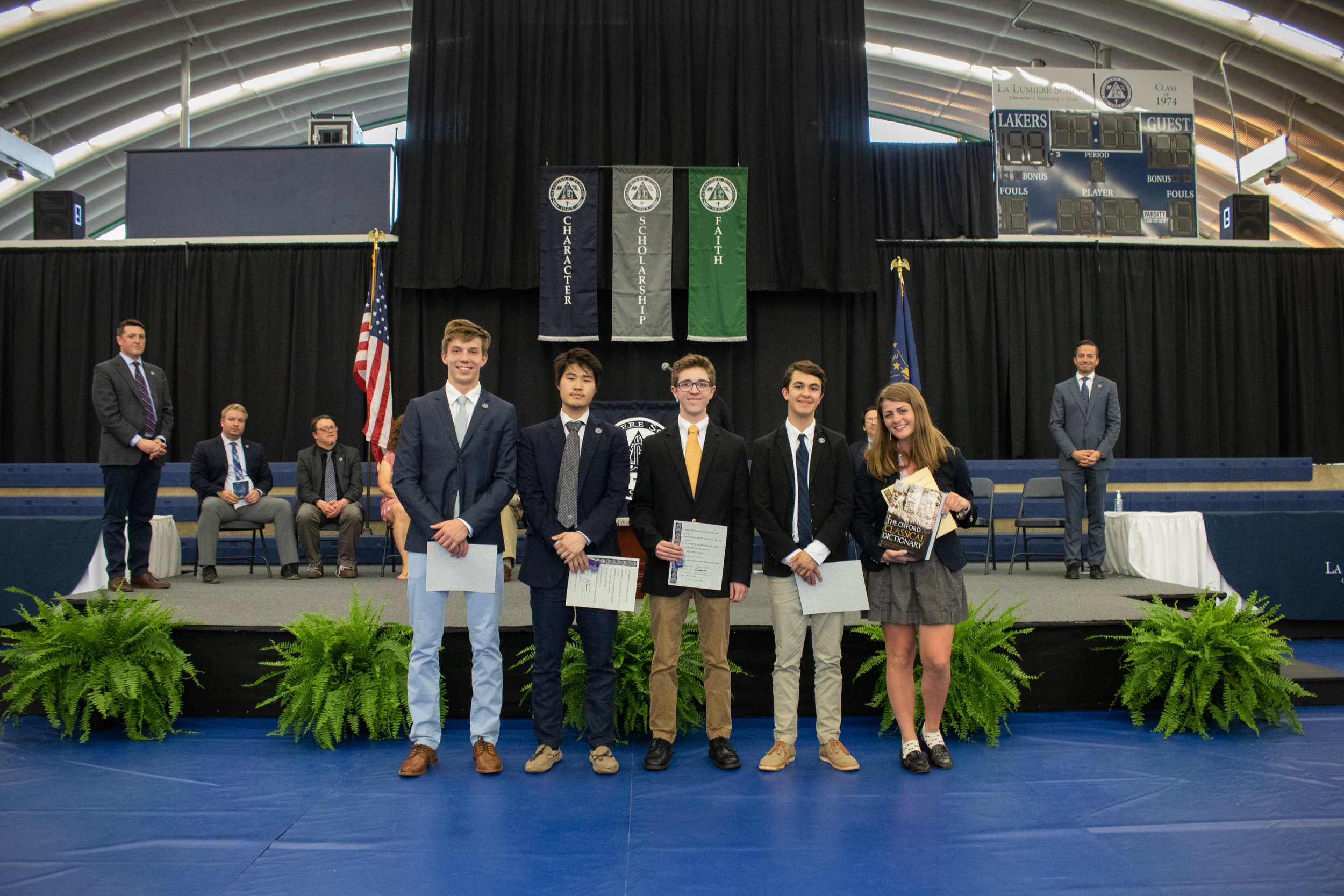 Students who earned  maxima  and  summa cum laude  on the National Latin Exam