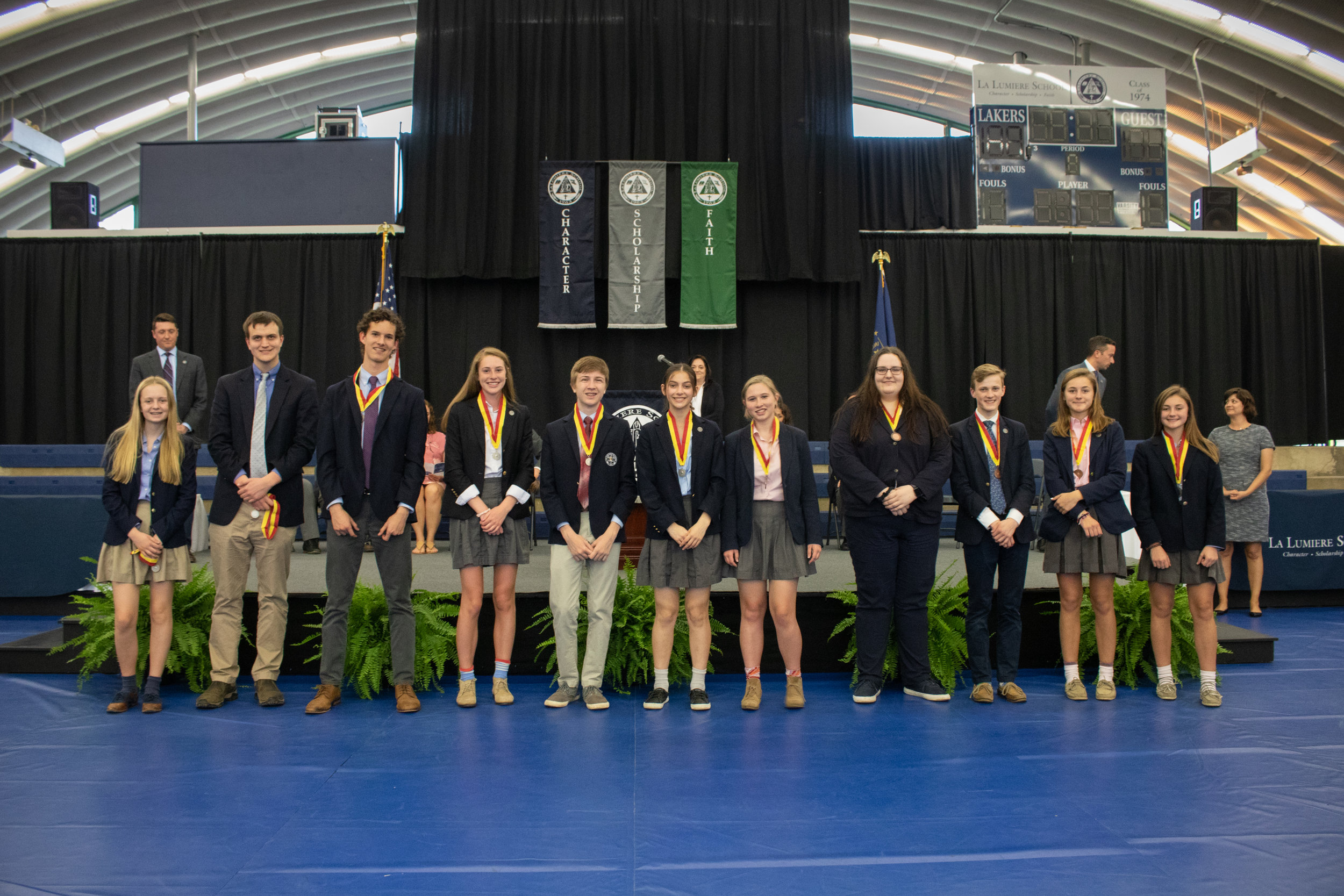 Students who earned silver medals, bronze medals, and honorable mentions on the National Spanish Exam