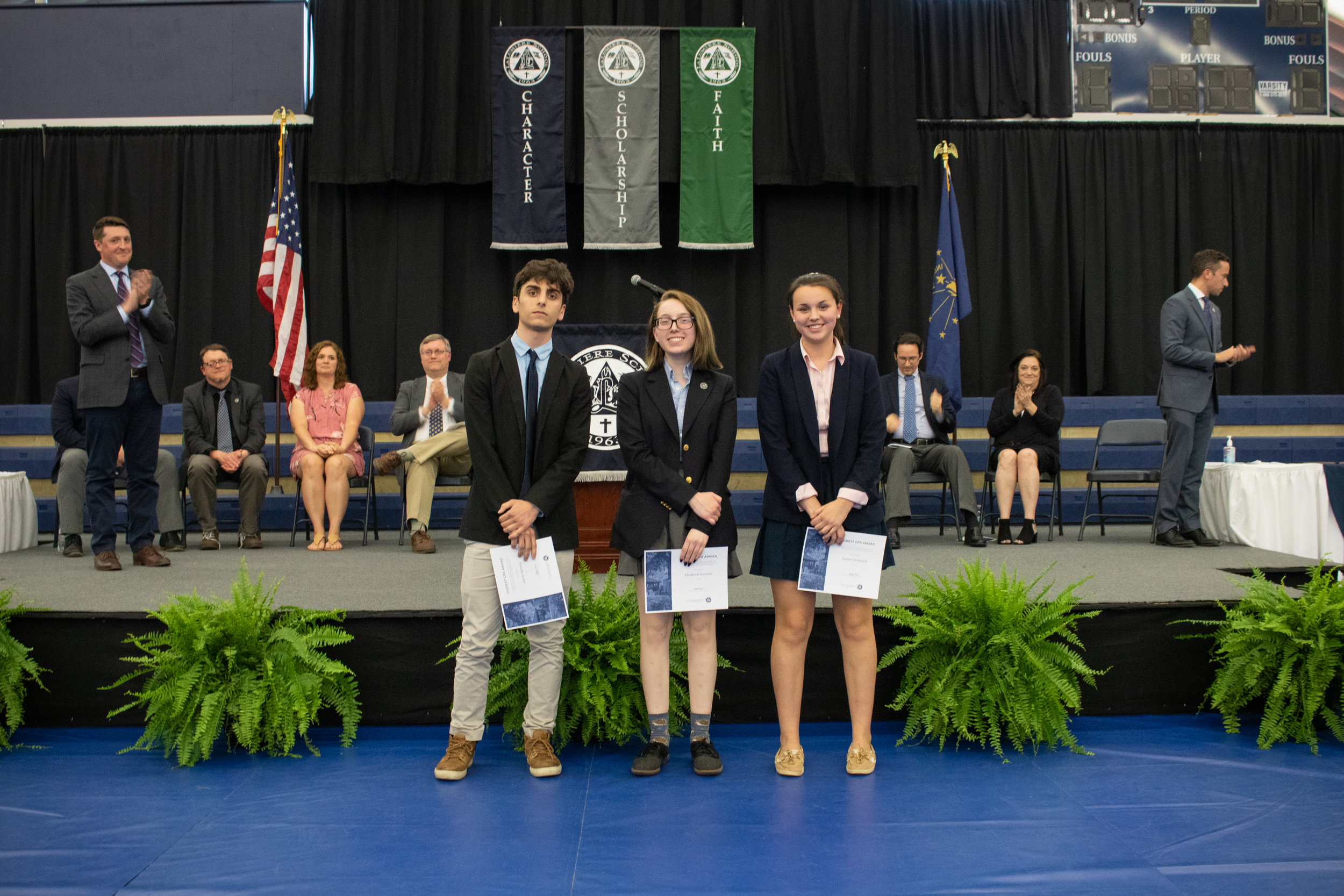 Students with the highest GPA in the third, fourth, and fifth forms