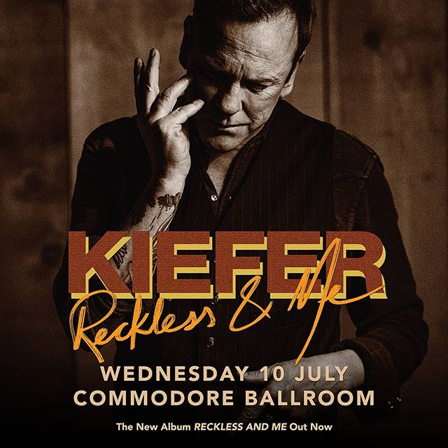 JUST ANNOUNCED: @KieferSutherland is bringing his country music chops to the @CommodoreBallroom on July 10! Join the Facebook event for more info.