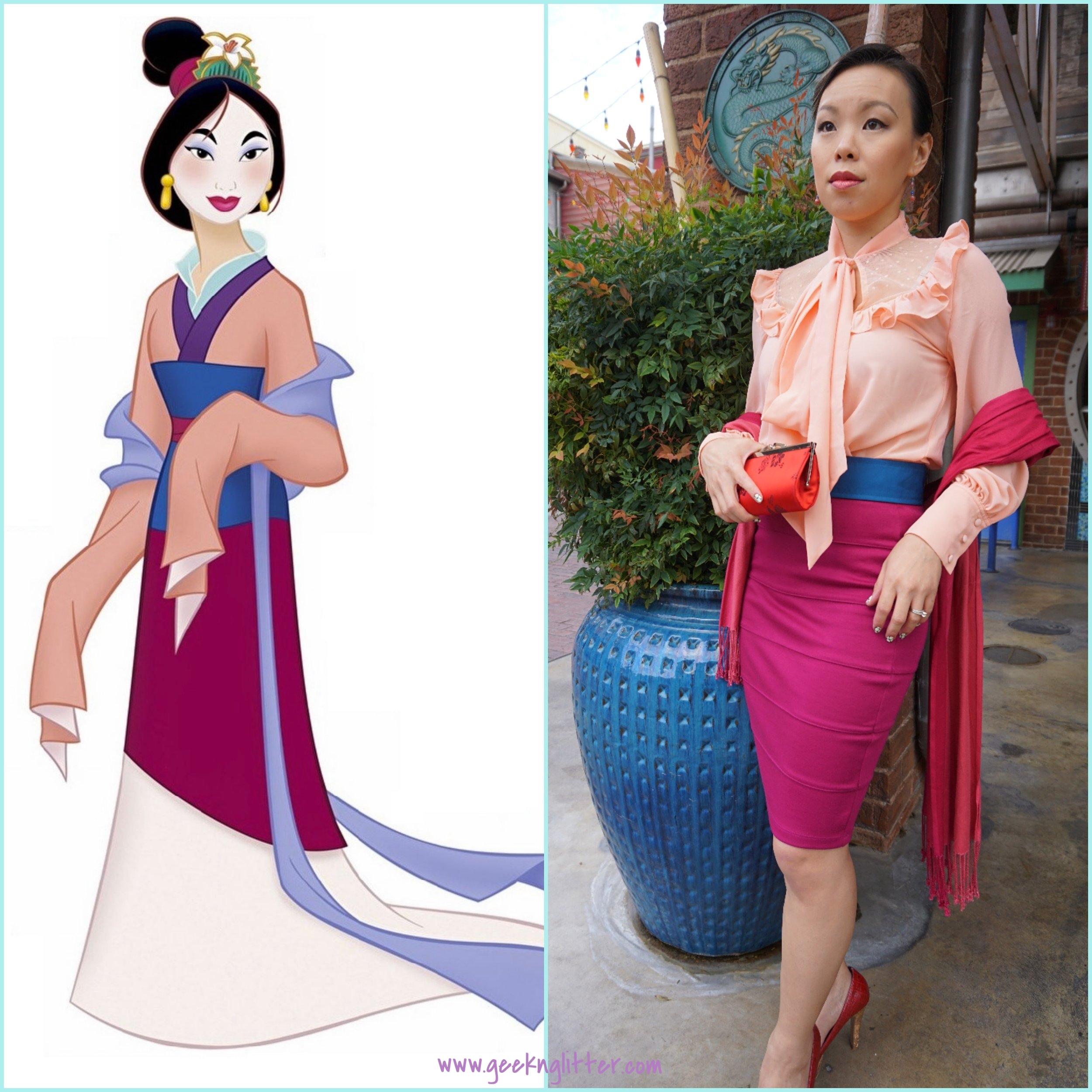 Mulan side by side comparison