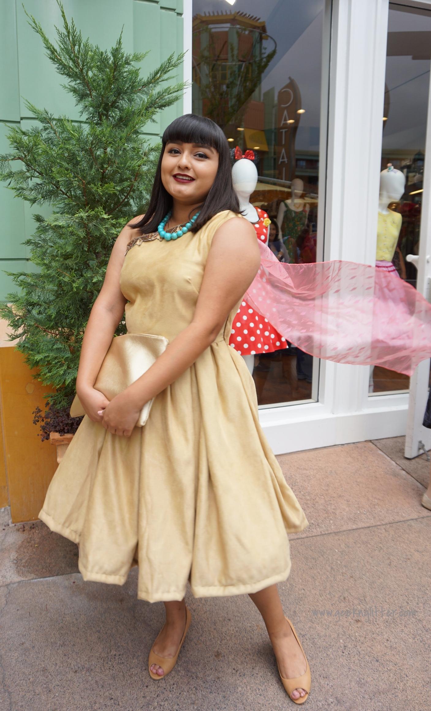 Pocahontas inspired dress designed by Rios Originals (IG: riosoriginals)