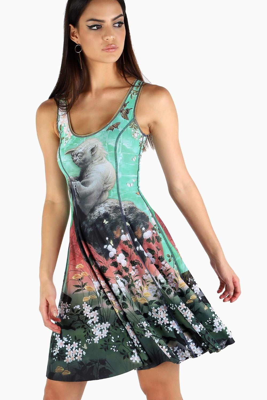 I Am The Rebellion/Ornamental Droids VS Ornamental Yoda Longline Inside-Out Dress