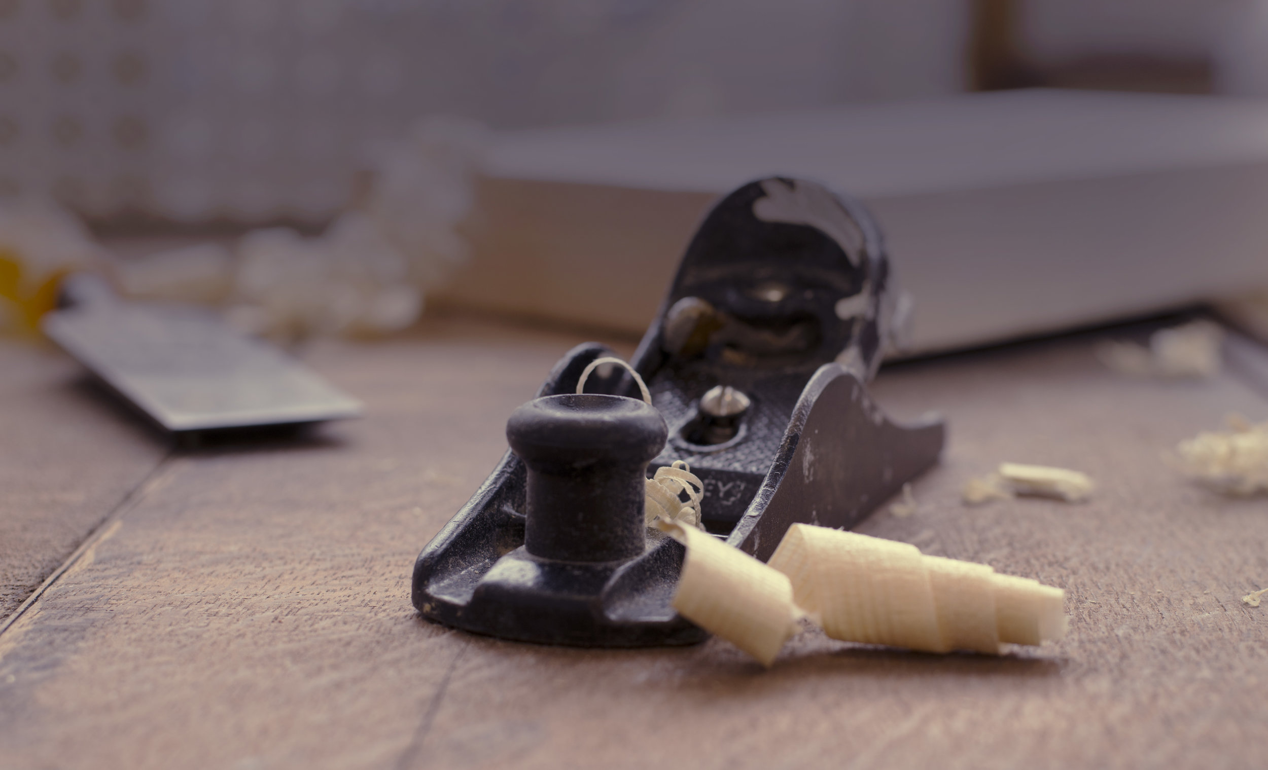 hand crafted wood planer