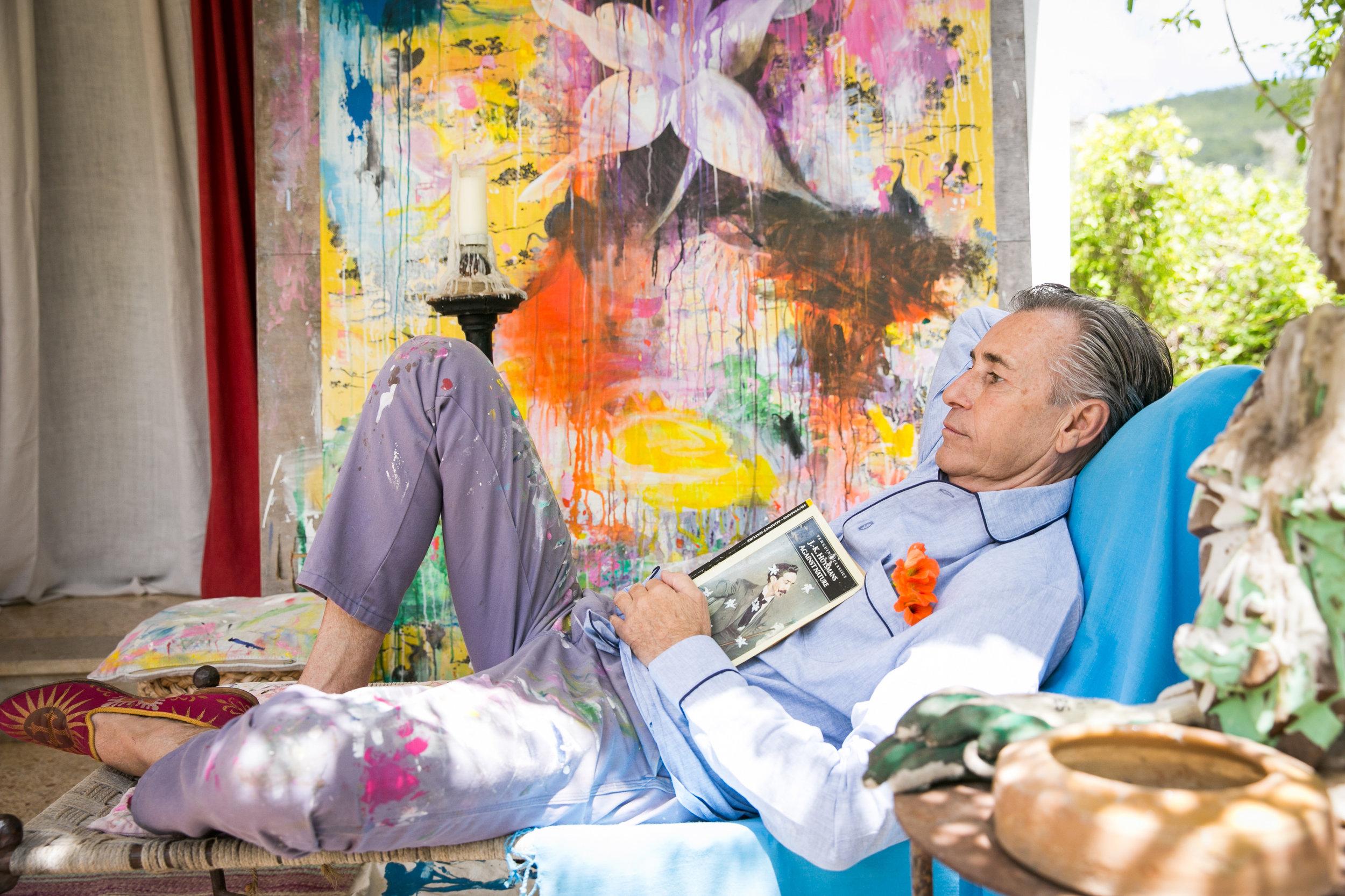 Grillo Demo at his home in Ibiza.