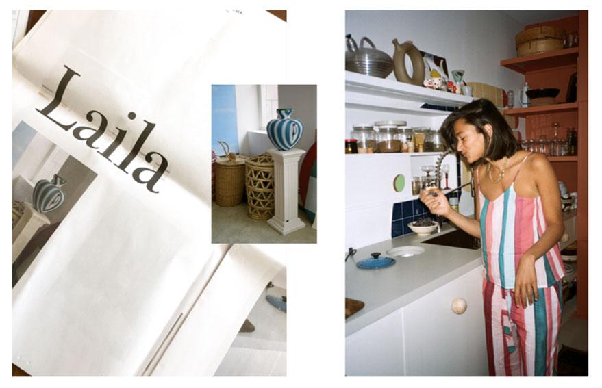 Laila Gohar in her New York apartment.