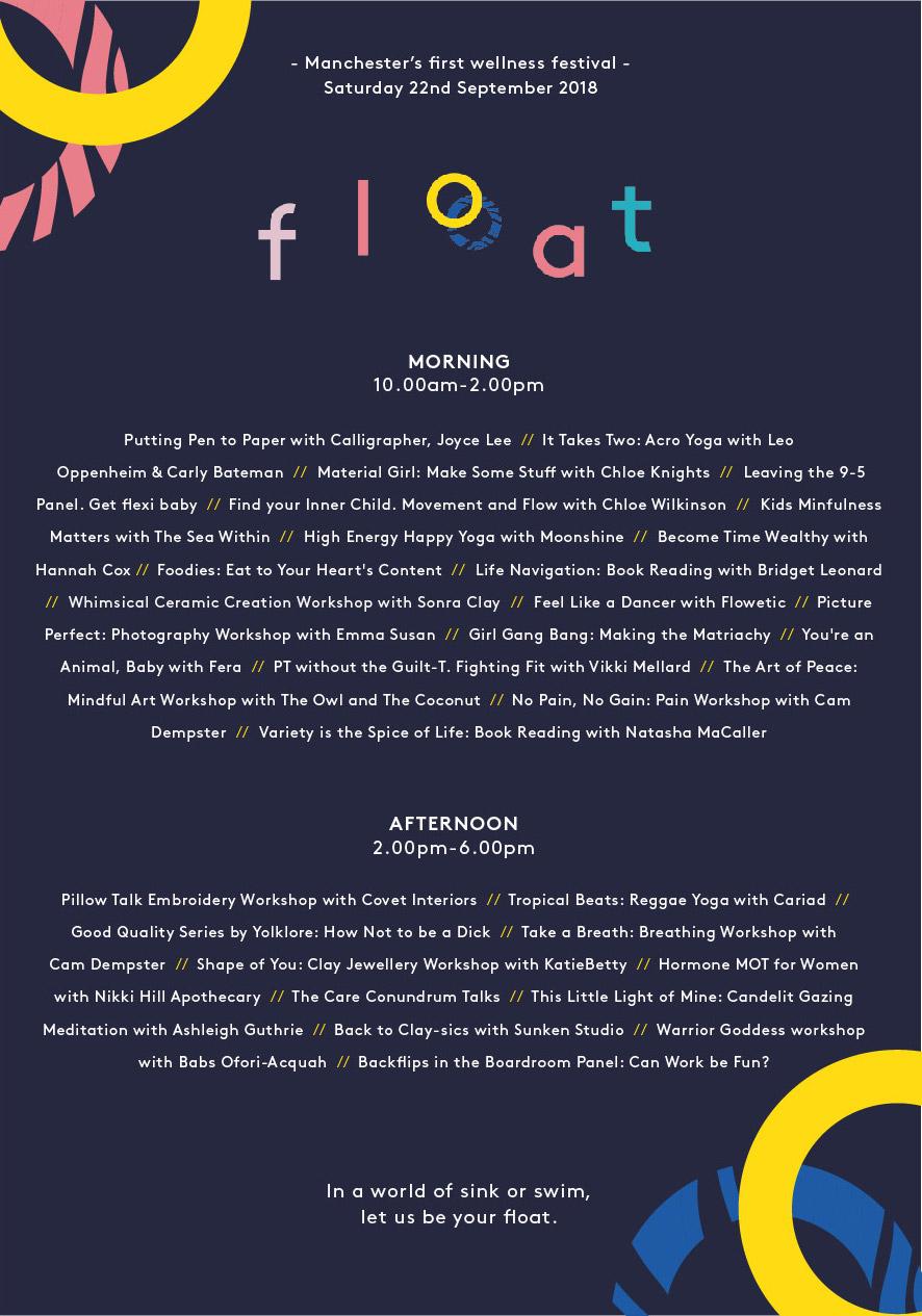 Float Festival MCR Line up