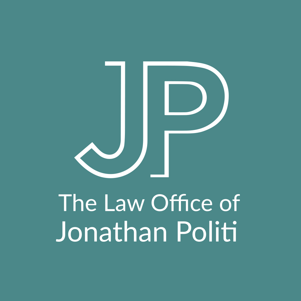 The Law Office of Jonathan Politi Logo Stacked Turquoise