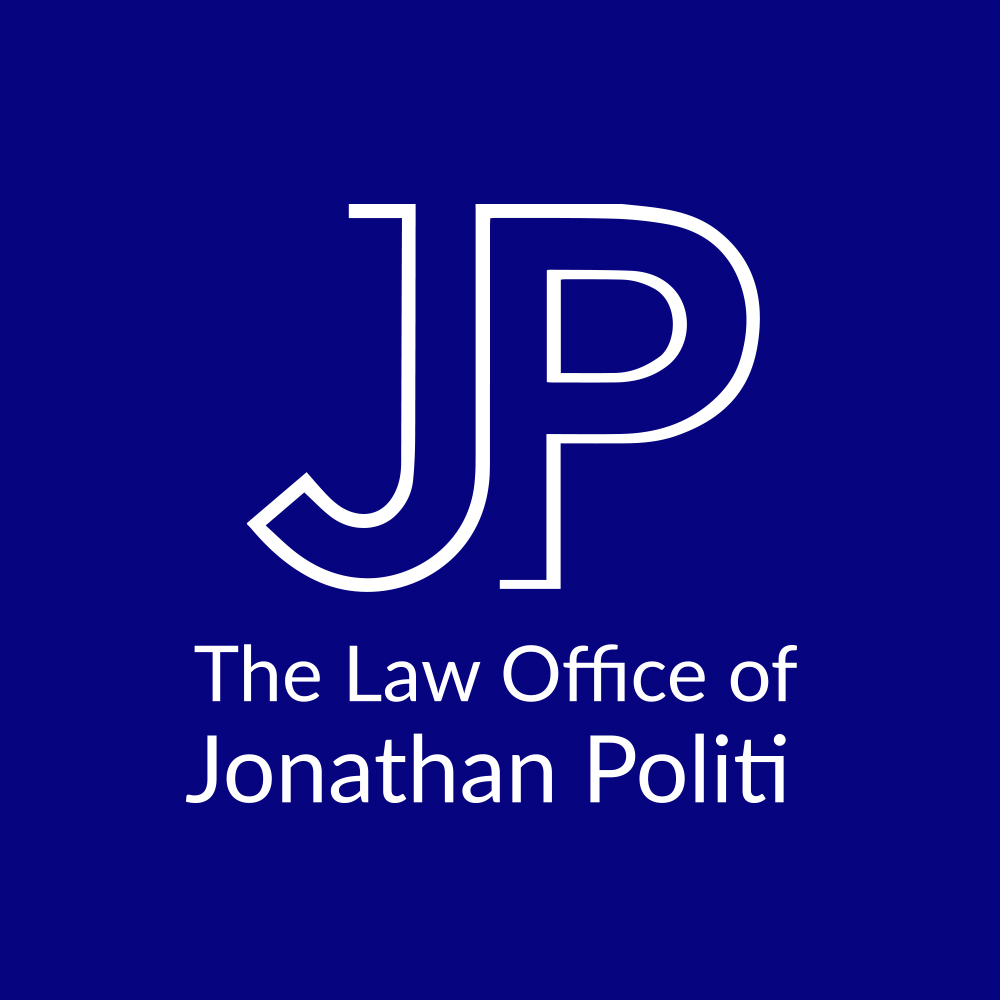 The Law Office of Jonathan Politi Logo Stacked Blue
