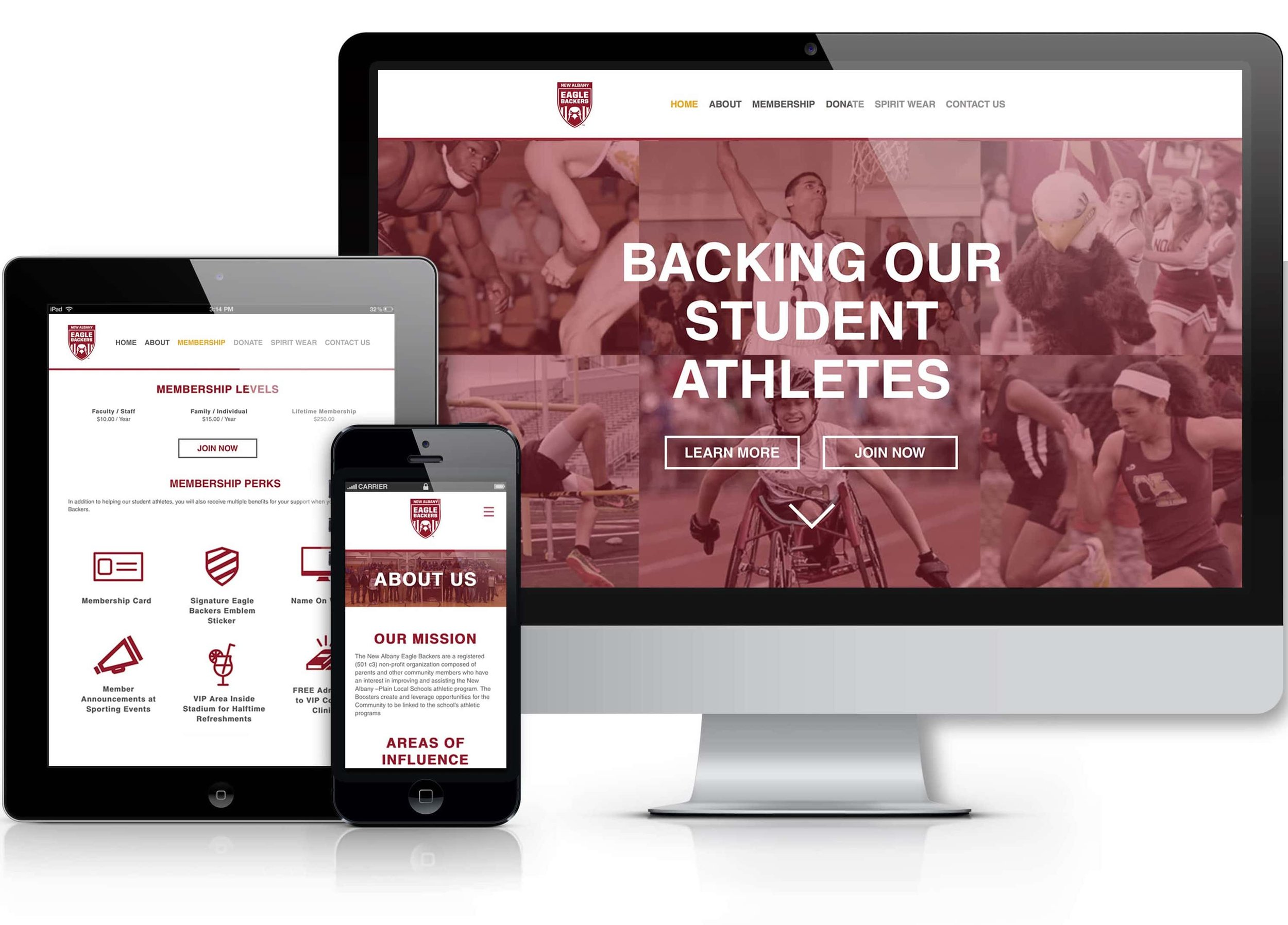 New Albany Eagle Backers Website Mockup.png