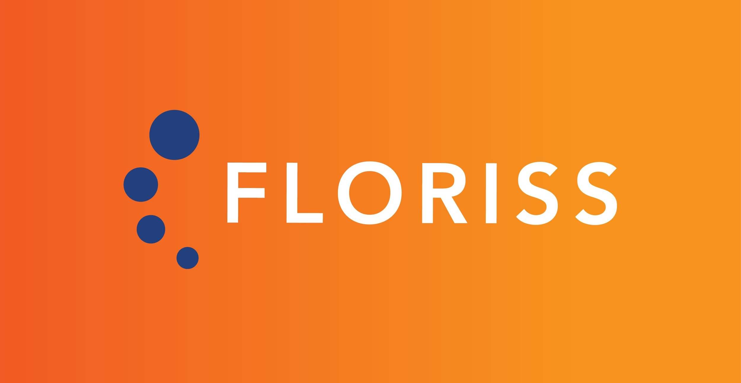 Floriss Group Logo Primary Orange Background