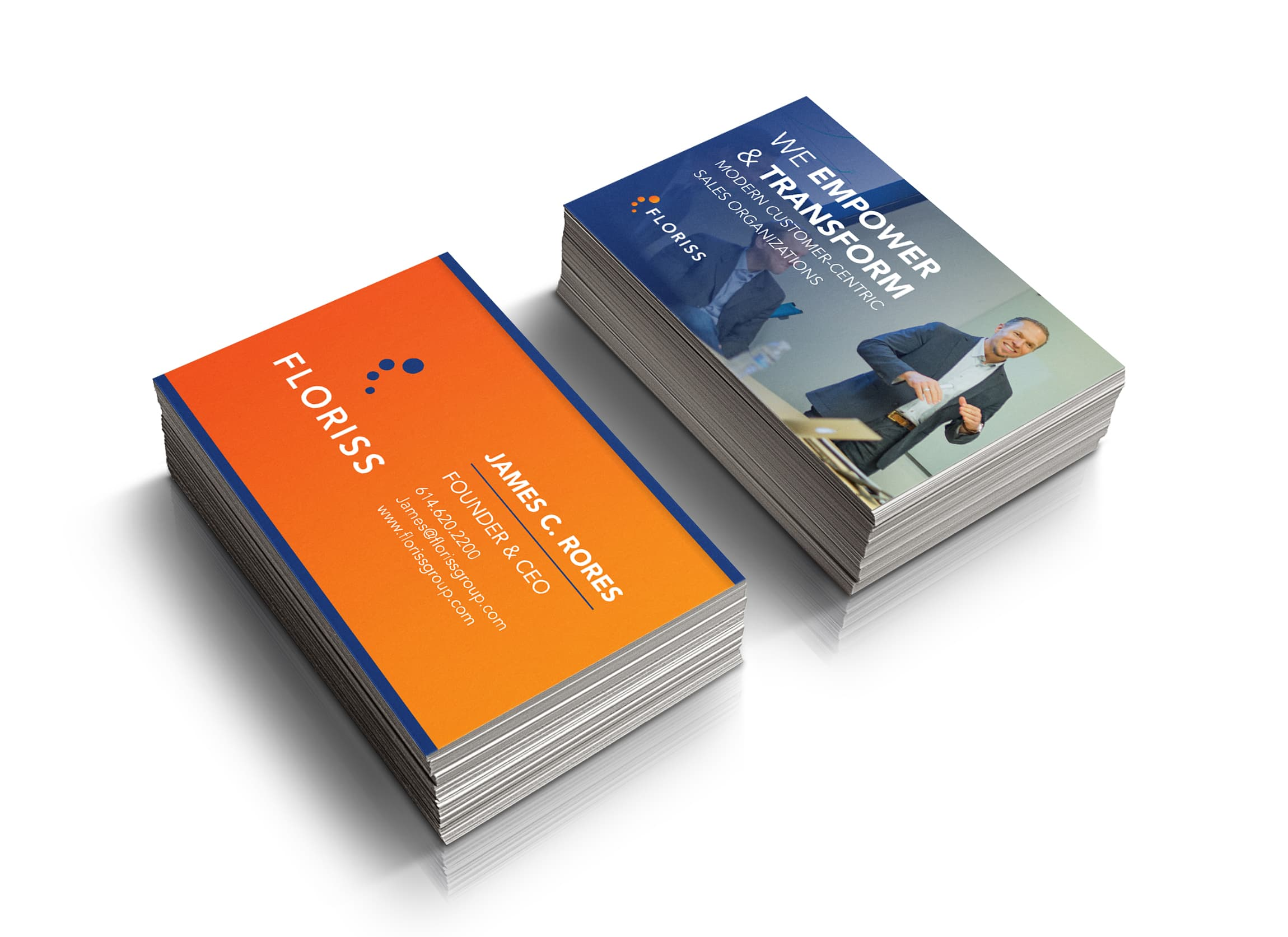 Floriss Group Business Card Mockup