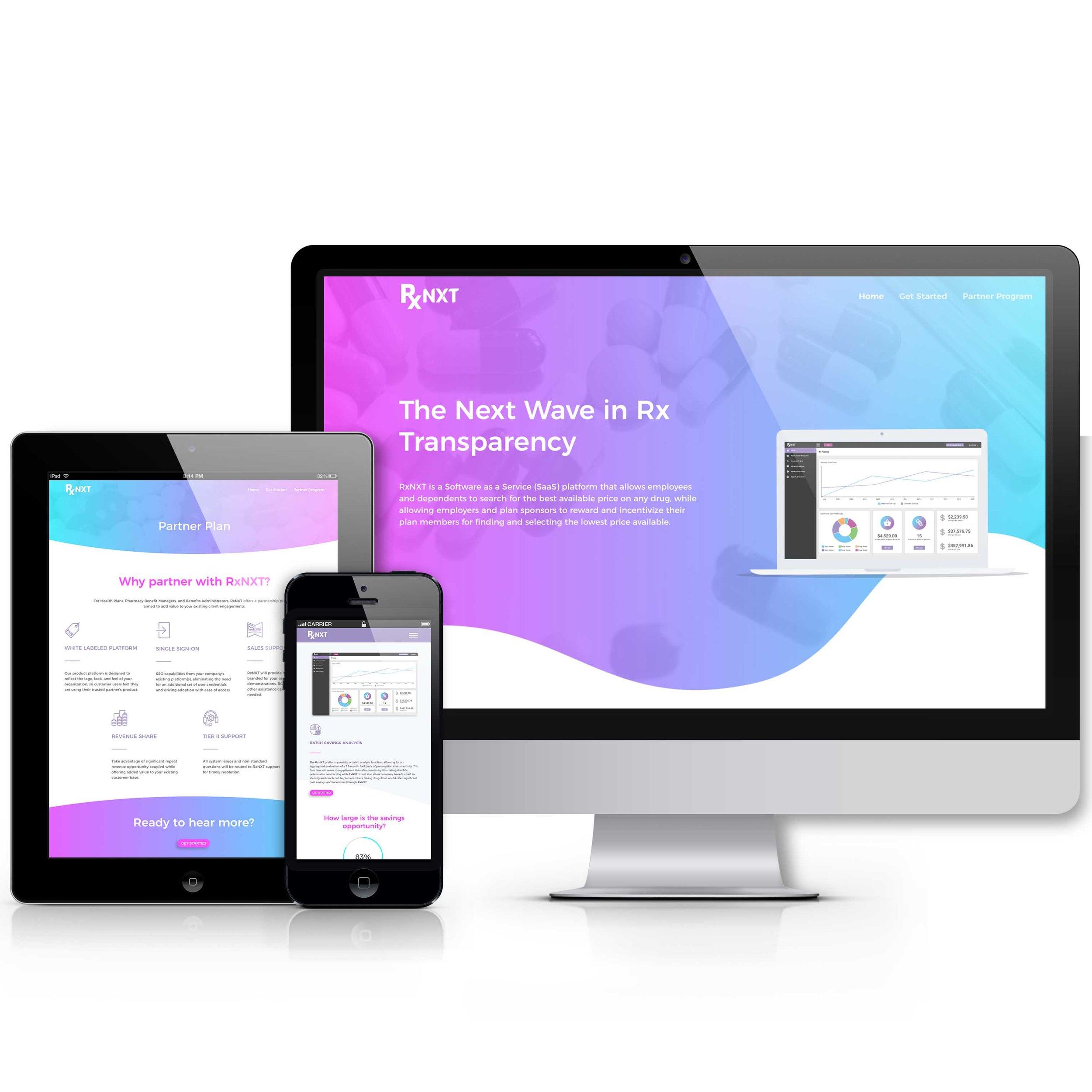 RxNXT Website Mockup