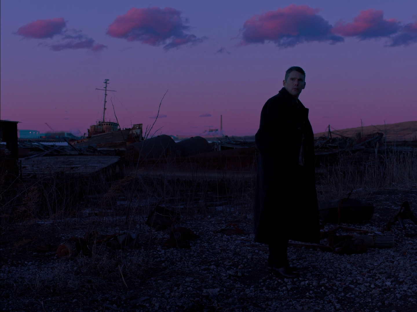 Ethan Hawke as Ernst Toller in Paul Schrader's First Reformed