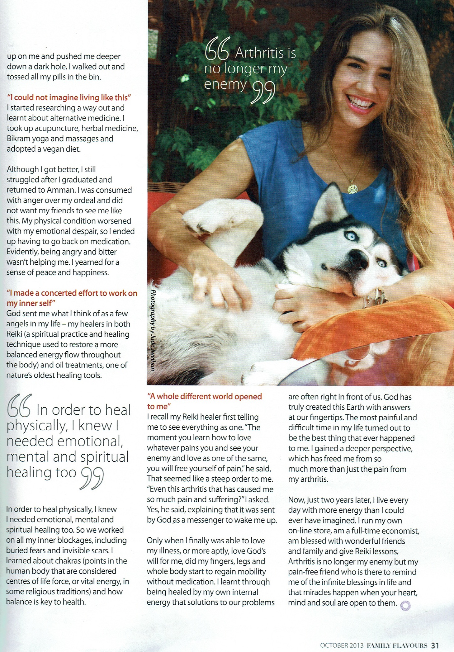 Miracles Do Happen - Article featured in Family Flavors magazine in Jordan part 2