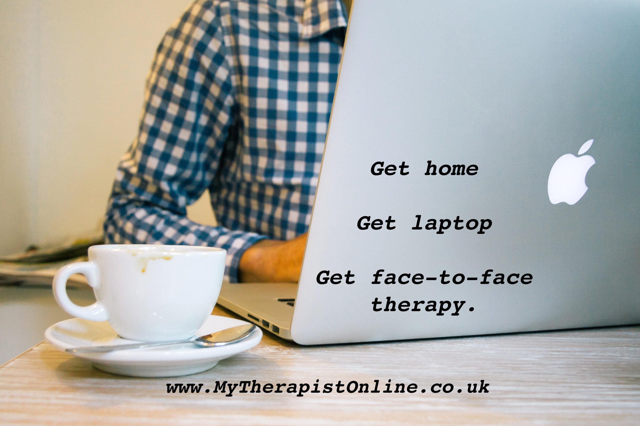 Online Therapy UK - laptop - video therapy