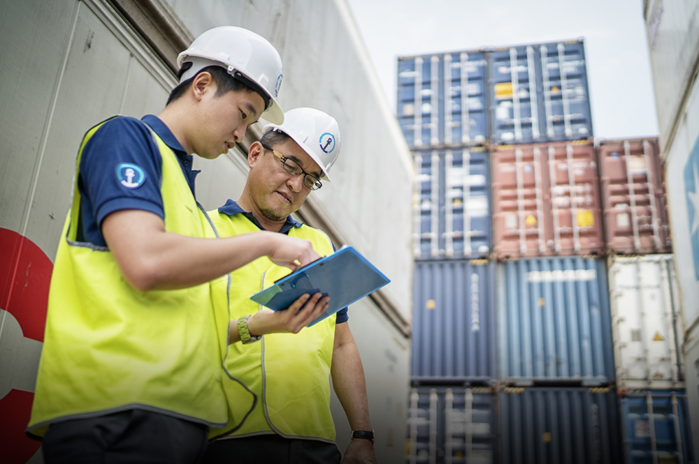 7,500 Seafreight specialists throughout the world coordinate custom solutions that support a volume of 1,300,000 cubic meters of cargo.  Photo courtesy of Kuehne + Nagel International AG.