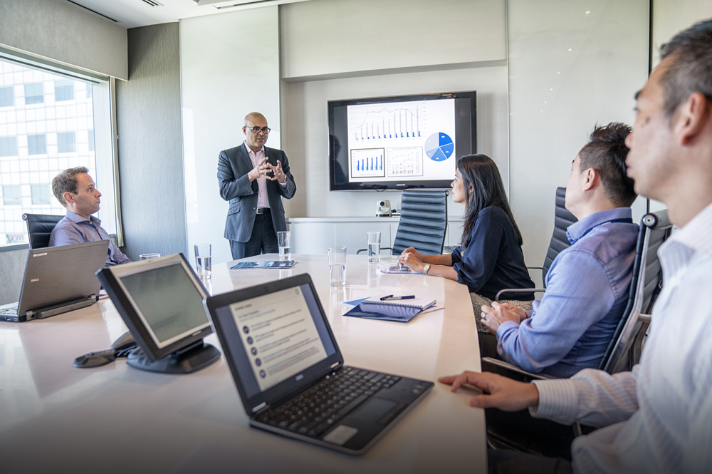 Customer service also looks like reflecting on performance, updating strategy, and deploying key learnings back to the field. Photo courtesy of Kuehne + Nagel International AG.