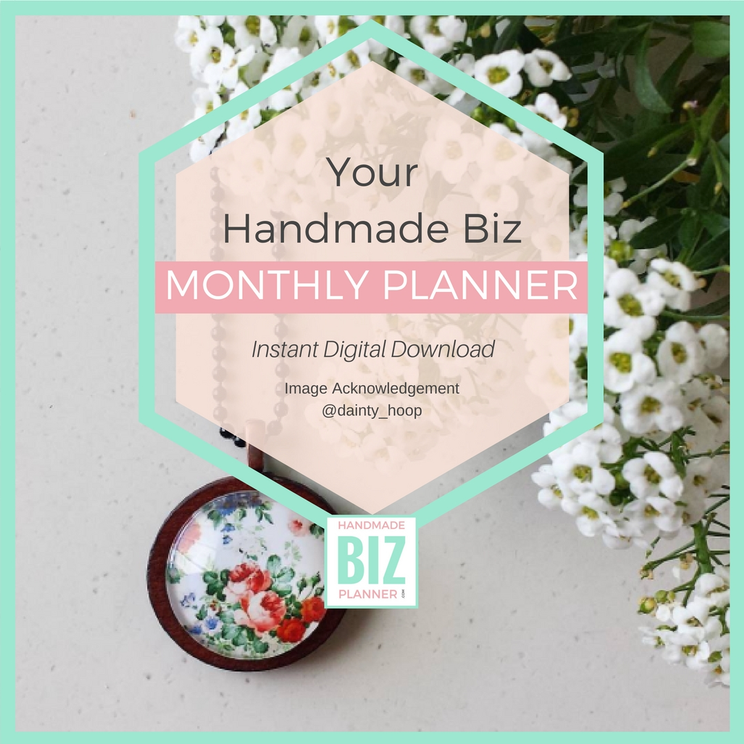 Handmade Biz Planner Monthly Planner