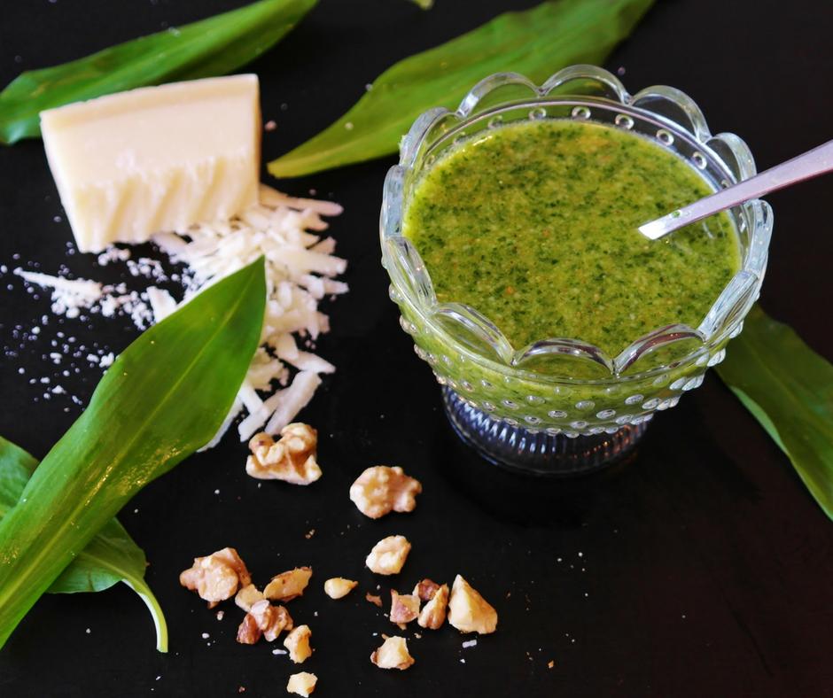 Garlic Scape Pesto Sauce -
