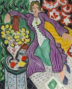 "Henri Matisse. ""Woman in a Purple Coat,"" 1937."