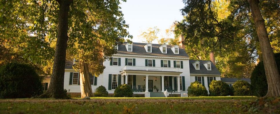 Sherwood Forest, John Tyler's tobacco plantation in Charles City, Virginia, via    Virginia.org
