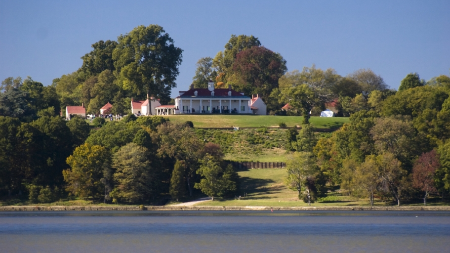 """Brian Reynolds, """"Mount Vernon view from Potomac River"""" (2008), via    Flickr   ."""