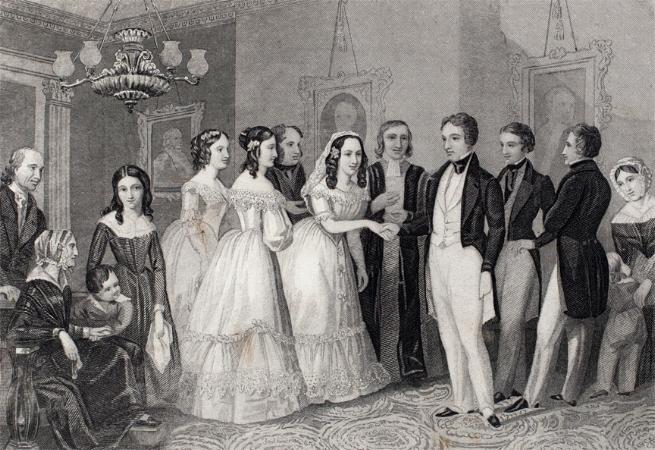 "John Forrest, ""The Wedding"" (1855)"