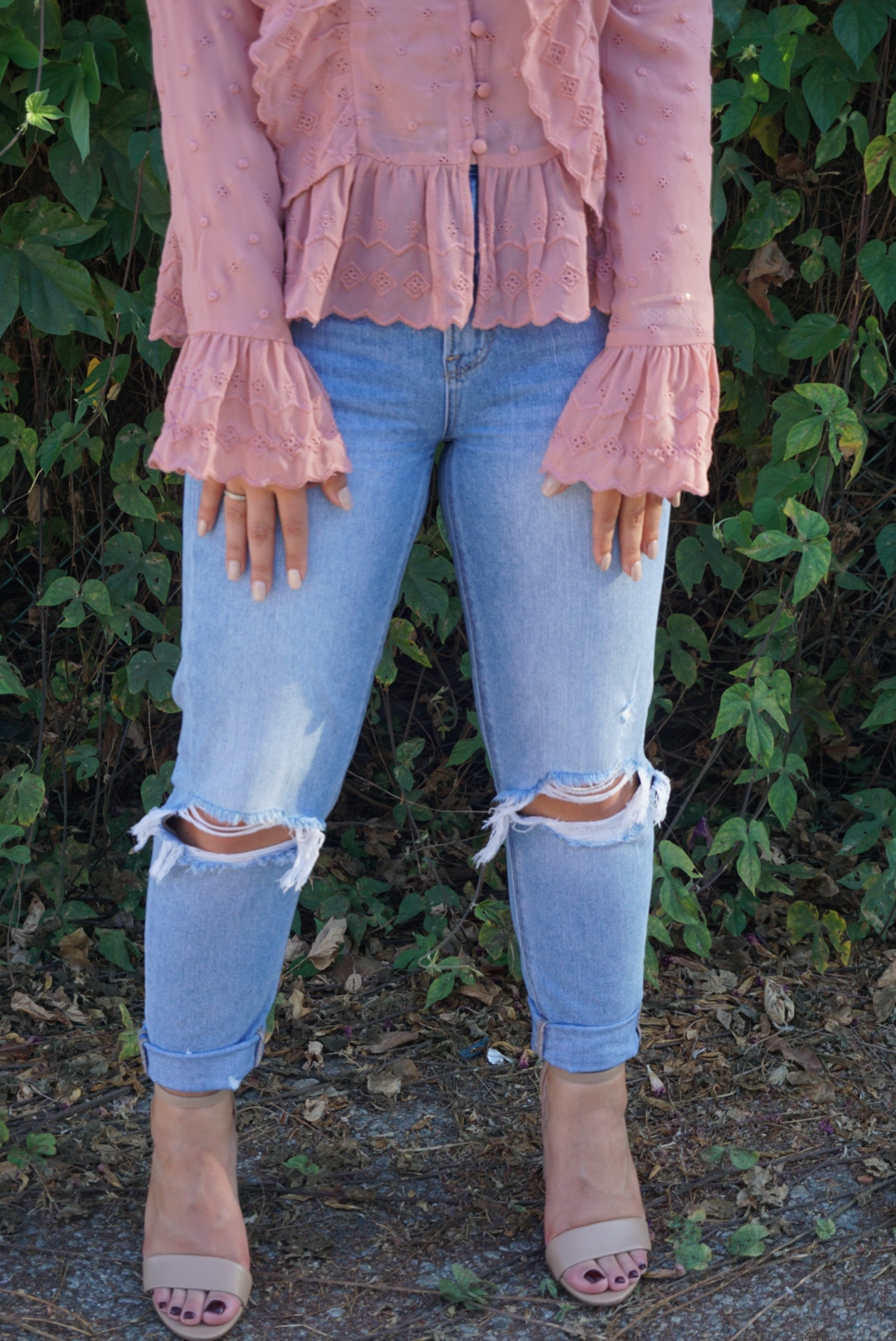 I get lots of compliments and questions about these jeans. They are from American Eagle and I love them!
