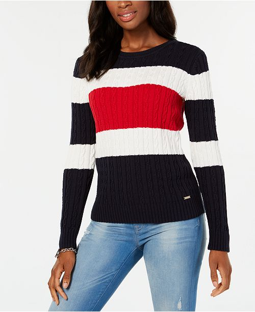 Tommy Hilfiger Cotton Colorblocked Sweater