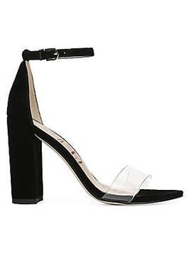 Sam Edelman Women's Yaro Vinyl & Suede Ankle Strap Heels
