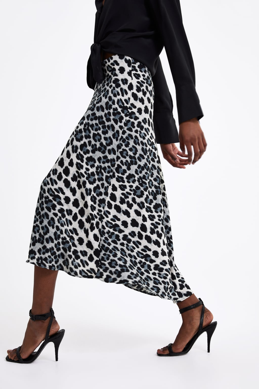 ANIMAL PRINT SKIRT - Flowy A-line skirt.