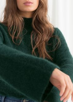 & OTHER STORIES Bell Sleeve Turtleneck Sweater