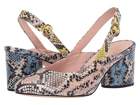 J.CREW SLINGBACK SAGE PUMP IN MIXED SNAKE