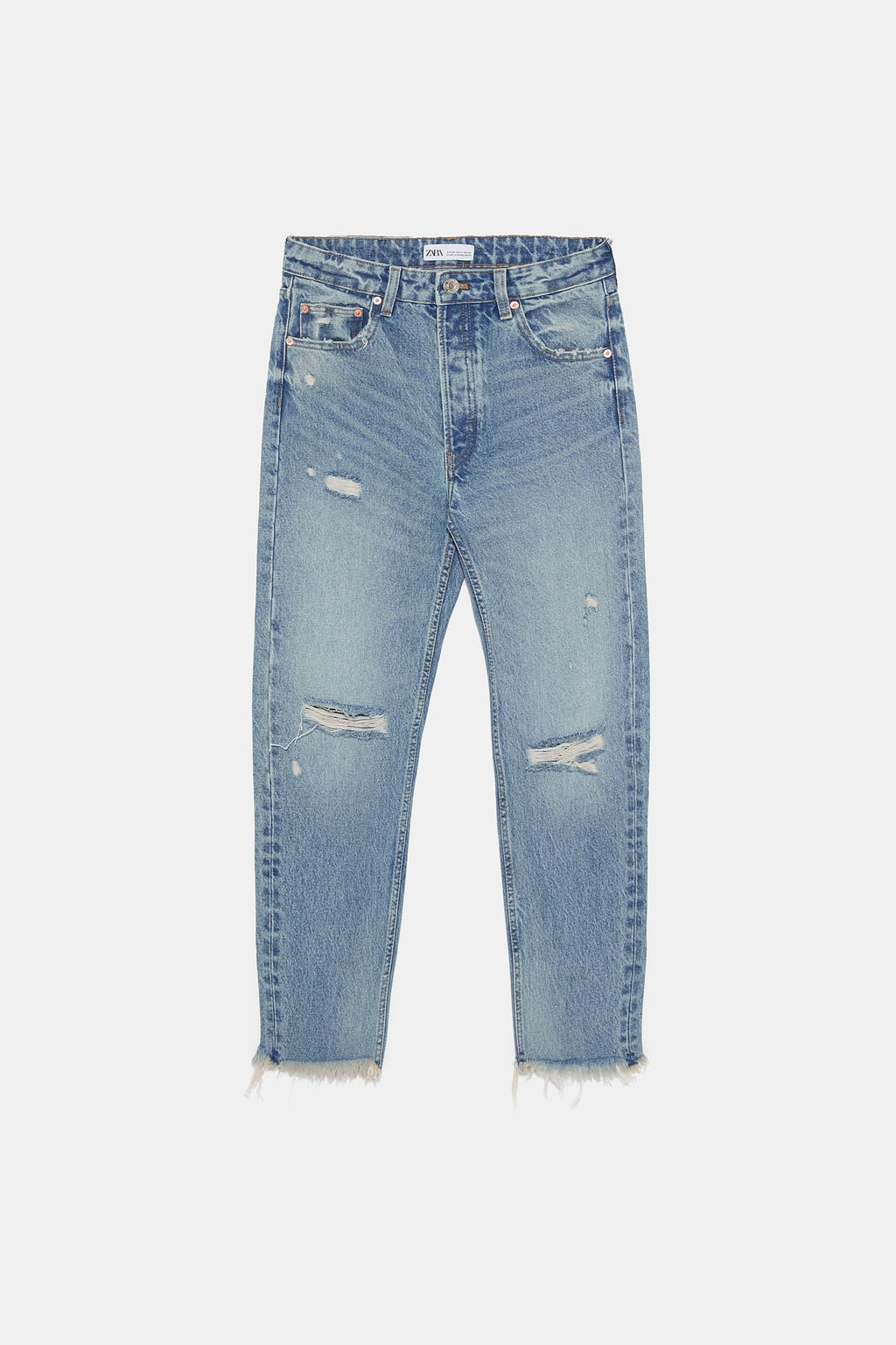 STRAIGHT LEG MID-RISE JEANS DETAILS 39.90 USD