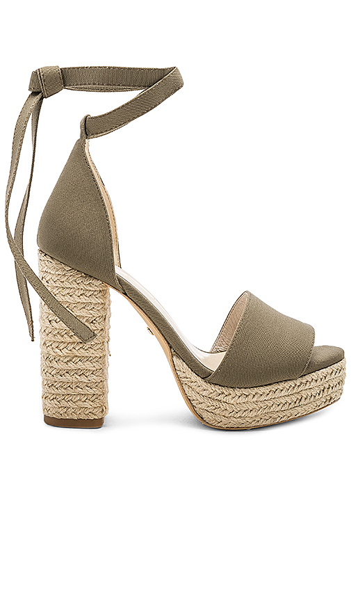 RAYE AYA HEEL IN OLIVE FROM REVOLVE.COM