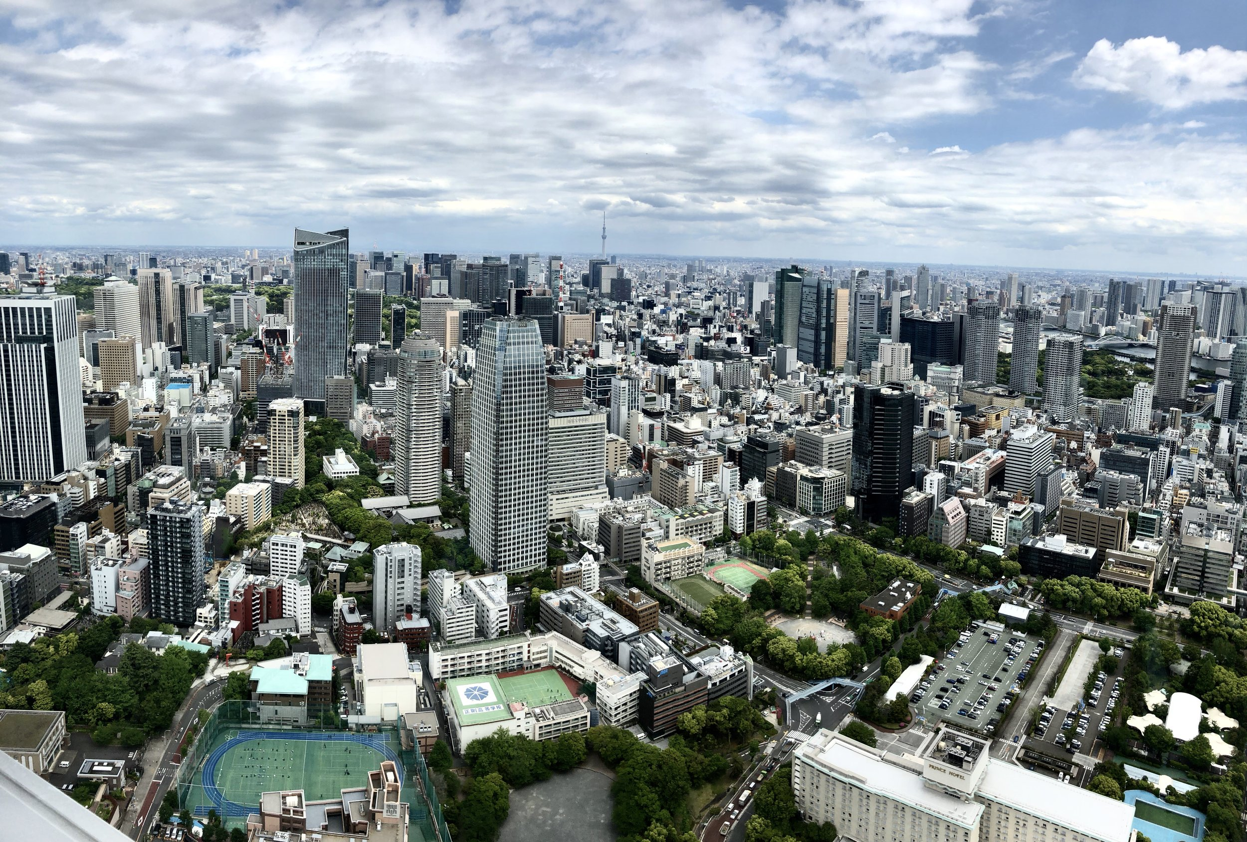 View from top deck at Tokyo Tower