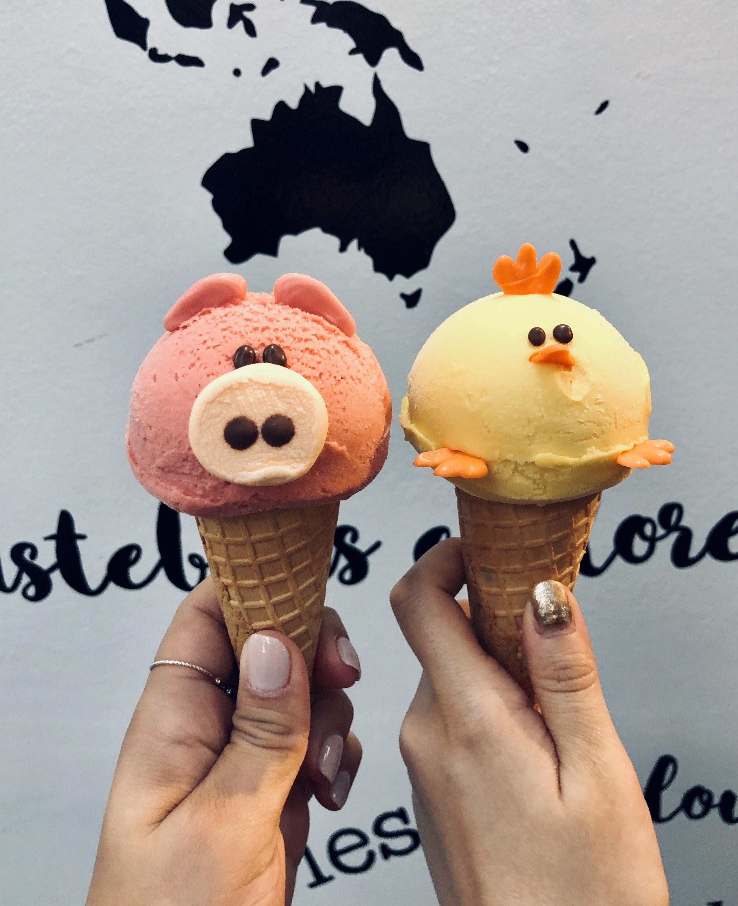 Super Kawaii (cute) animal gelato