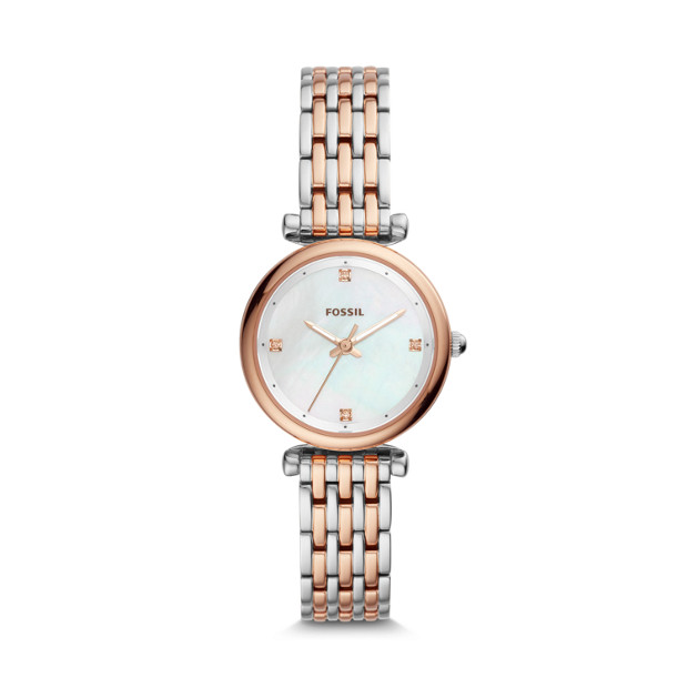 Mini Three-Hand Two Tone Stainless Steel Watch - was $135.00 now  $95.00