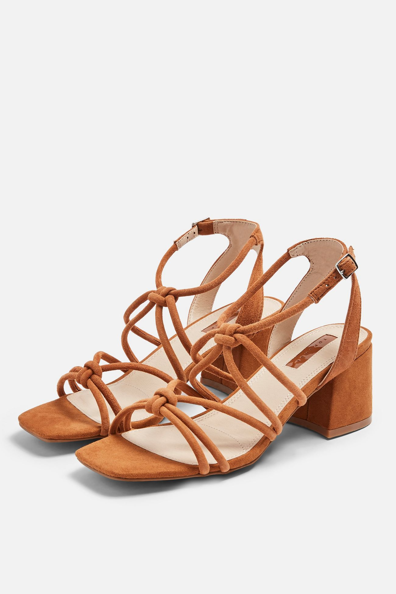 Sydney Leather Tan Tubular Sandals - Was $75 Now  $37.50