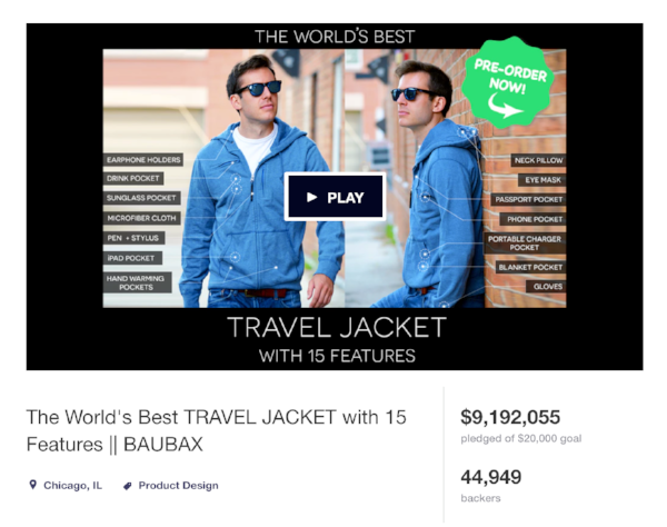 BAUBAX raised over $9 million dollars on Kickstarter, with the help of our video production partner.