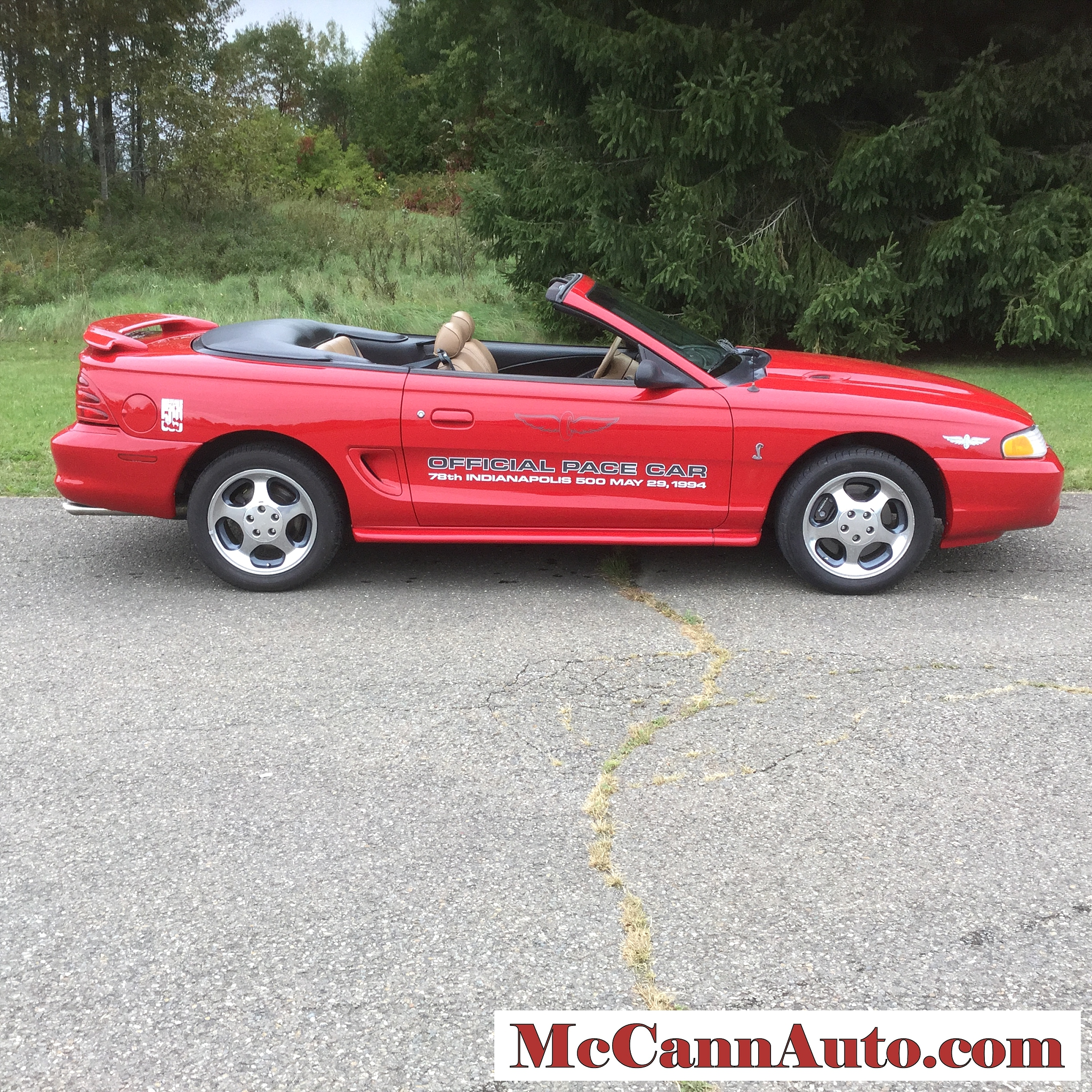 1994 Ford Mustang SVT Cobra Convertible Indy 500 Pace Car