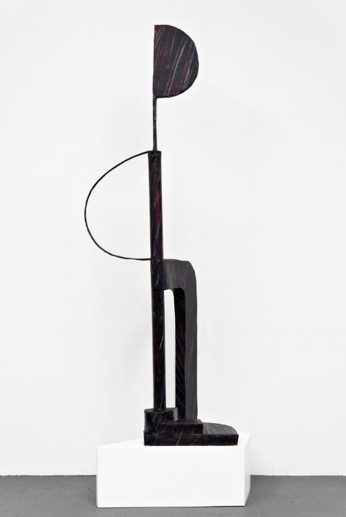 Rebekah Goldstein, Flying Solo, 2017, 84 x 30 x 20 Foam, Paper, metal, paper mache, acrylic paint, oil paint